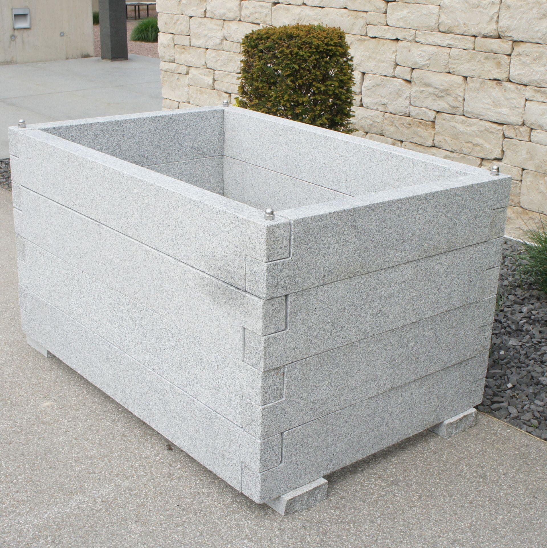 Hochbeet 150x100cm 80cm Hoch Granit Hellgrau Stein Shop
